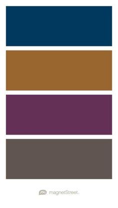 Navy, Bronze, Eggplant, and Slate Wedding Color Palette - custom color palette created at MagnetStreet.com