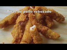 Tiras de pollo rebozado