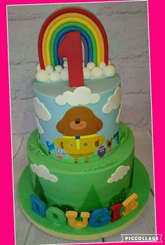 Hey Duggee cake 3rd Birthday Cakes, First Birthday Parties, Birthday Ideas, Digger Cake, Dog Cakes, Sugar Cake, Novelty Cakes, Celebration Cakes, Party Cakes