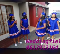 South African Dresses, African Bridesmaid Dresses, African Print Dresses, African Attire, African Fashion Dresses, Pedi Traditional Attire, Sepedi Traditional Dresses, South African Traditional Dresses, Shweshwe Dresses