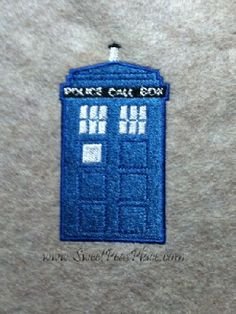 Police box Filled Embroidery Design