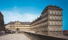 New Residenz - The New Residenz of the Bamberg Prince-Bishops was begun in 1613. The two wings on the cathedral square were built by Johann Leonhard Dientzenhofer in 1697-1703.