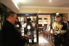 The Alba Hussar in action, at our Jacobite Commanders candlelit dinner held at the Salutation Hotel Perth, #comejoinourCampaign, visit jacobitetours.co.uk