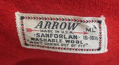 arrow clothing label