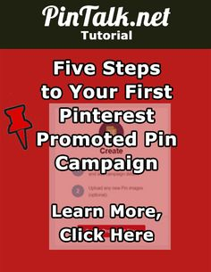 Five Steps to Your First Pinterest Promoted Pin Campaign. Promoted Pins are Pinterest's answer to paid social media advertising. Pinterest business checklist users can choose between traffic campaigns and engagement campaigns. As with any marketing strategy, the first step is to determine the goal of your campaign and define the conversion.