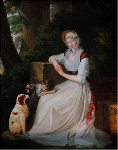 """history-of-fashion: """" 1794 Louis Gauffier - Portrait of Lady Holland with her son (Musée Fabre) """" Old Paintings, Paintings For Sale, Portrait Paintings, Oil Painting On Canvas, Canvas Art Prints, A4 Poster, Poster Prints, Amor Animal, Languedoc Roussillon"""