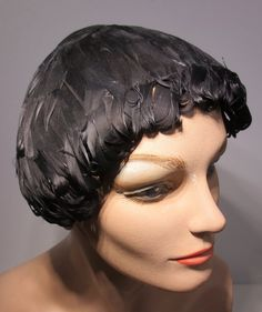 Vintage 1950's Little Black Feather Hat by delilahsdeluxe on Etsy, $24.50