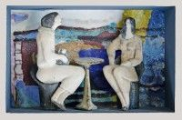 Keramikmuseum Westerwald - 'Frauen in Landschaft' (museum-digital:rheinland-pfalz)Gisela Schmidt-Reuther, Rengsdorf, 1980