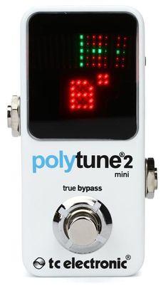 35d529eb572c5 TC Electronic PolyTune 2 Mini Polyphonic Tuning Pedal image 1 Guitar  Tuners