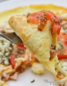 Receita de Pizza Omelete ou Omelete Pizza? Você decide!!