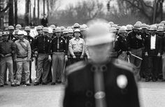 Flip Schulke. The police line during Dr. King's march in Selma, Alabama 1965