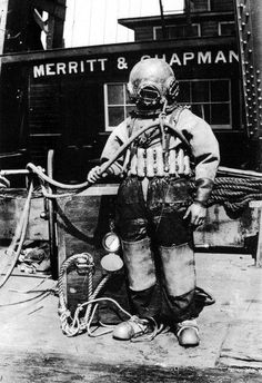 Diving helmet.