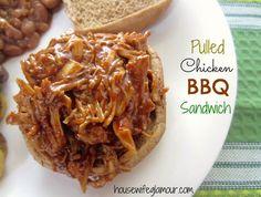 Pulled Chicken (lean + healthier) BBQ Sandwich. #FitFluential