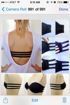 ✨DIY 3 Strap Bra For backless Tops And  Dresses ✨