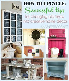 Easy Home DIY And Crafts: DIY Changing Old Items Into Creative Home Decor Tips