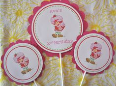 Vintage Strawberry Shortcake Cake toppers or by jkdesigns2009,