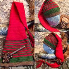 Nalbinded  Tomtie pixie Santa hat Etsy shop https://www.etsy.com/uk/listing/564992992/nalbinded-tomtie-hat-in-norwegian-wool