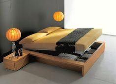 Modelos de cama moderna Diy Storage Bed, Small Bedroom Storage, Storage Ideas, Small Rooms, Small Apartments, Bed Designs Pictures, Man Room, Awesome Bedrooms, Home Decor Bedroom