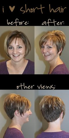 [katie hill salon]: Amy The Effective Pictures We Offer You About edgy hair highlights A quality pic Short Shaggy Haircuts, Short Hairstyles For Thick Hair, Short Grey Hair, Haircut For Thick Hair, Short Hair With Layers, Short Hair Cuts For Women, Hairstyles Haircuts, Stacked Haircuts, Funky Short Hair