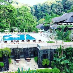 Main swimming pool at the Datai Langkawi, Maleysia Places To Travel, Places To Visit, Singapore, Swimming Pools, Villa, Tours, Patio, Vacation, World