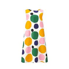 Collaboration with Marimekko, renowned for its unique print patterns and beautiful colors. © Marimekko- Attractive, feminine A-line cut works great with Marimekko's designs.Due to the printing process, the patterns may have slight va Marimekko Dress, Uniqlo Dresses, African Dresses For Kids, Colourful Outfits, Fashion Prints, Uk Fashion, Fashion Sewing, Summer Collection, Print Patterns