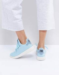 official photos 2dc8f 16011 Shop adidas Originals X Pharrell Williams Tennis HU Sneakers In Icey Blue  at ASOS.