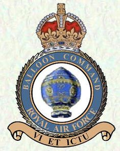 The crest of RAF Balloon Command. Jane Wilson, The Blitz, Battle Of Britain, Royal Air Force, Crests, Commonwealth, World War Two, Storyboard, Great Britain