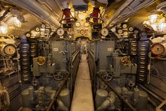 U-505 Submarine Engine Room