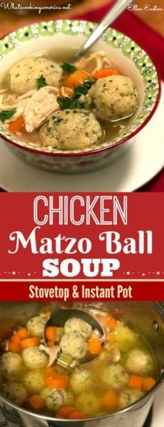 Chicken Matzo Ball Soup Recipe - Emily Levine - Chicken Matzo Ball Soup Recipe Chicken Matzo Ball Soup is the ultimate Jewish comfort food. A traditional soup enjoyed during Jewish holidays. Chicken Matzo Ball Soup Recipe, Matzo Ball Recipe, Chicken Soup Recipes, Recipe Chicken, Passover Recipes, Jewish Recipes, Passover Food, Passover 2015, Healthy Sweet Snacks