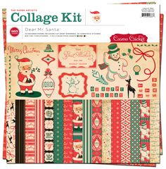 Cosmo Cricket - Dear Mr. Claus Collection - Christmas - Collage Kit at Scrapbook.com $18.99