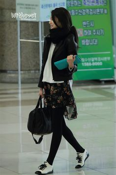 Sooyoung - SNSD airport fashion