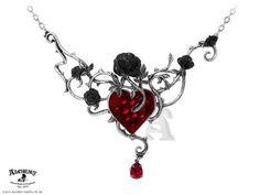 El corazón es el semillero de las emociones enredadas y del romance condenado, rosas negras florecen en el corazón de sangre.