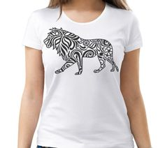 Lion zentangle design. SVG, DXF, PNG, AI ,CDR, PDF, print and cut files for tattoo design, t-shirt design, sticker, wall decor, scroll saw, car decal, embroidery pattern. Digital template/stencil files for use with Silhouette, Cricut and other Vinyl Cutters and printing machine.