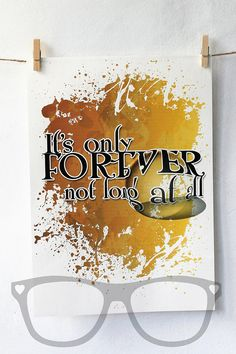 It's only Forever, artwork, print, digital, film quote, mini geek boutique, nursery, labyrinth, inspired, David Bowie, A4, A5, geek