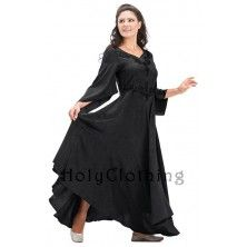 Angel Diamond Neckline Embroidered Full Skirt Princess Dress