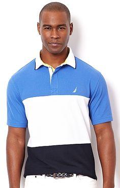 Men's Big & Tall Pieced Polo - Nautica.com