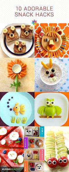 Camping With Kids Try these 10 adorable snack hacks for healthy kids.Try these 10 adorable snack hacks for healthy kids. Food Art For Kids, Cooking With Kids, Children Food, Meals For Children, Birthday Food Ideas For Kids, Party Food For Kids, Food Kids, Cute Snacks, Cute Food