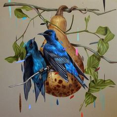 Frank Gonzales's Charming Bird Paintings http://designwrld.com/frank-gonzaless-charming-bird-paintings/