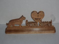 I love my German Sheppard desk piece by KentsKrafts on Etsy
