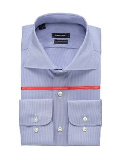 In addition to elegant accents like hand-stitched finishing and Mother of Pearl buttons, this blue dress shirt from our Suit Up line features a wide spread collar, single cuff, and a subtle houndstooth check. Cut from Thomas Mason Egyptian cotton, it's an all-purpose button up shirt to keep on hand for any event.