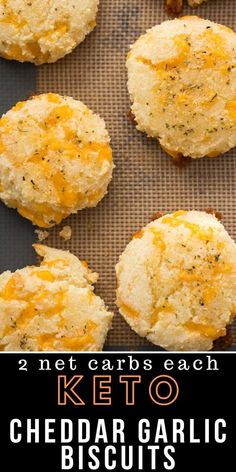 keto Just like Cheddar Bay Biscuits! You will love these easy Keto Cheddar Garlic Biscuits they are a perfect Low Carb Red Lobster Biscuit Copycat! Only 2 net carbs each and loaded with flavor! Red Lobster Biscuits, Cheddar Bay Biscuits, Keto Biscuits, Keto Pancakes, Healthy Low Carb Recipes, Low Carb Dinner Recipes, Diet Recipes, Dessert Recipes, Seafood Recipes
