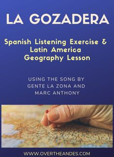 Use La Gozadera by Gente de Zona and Marc Anthony in the Spanish Classroom with this listening exercise and geography lesson. High School Spanish, Elementary Spanish, Spanish Teacher, Spanish Classroom, Spanish Vocabulary, Spanish Language Learning, Teaching Spanish, Vocabulary Games, Spanish Songs