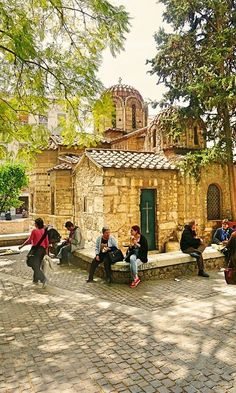 Byzantine Church of Kapnikarea, Athens, Greece Greece Tours, Greece Travel, Places In Greece, Church Architecture, The Beautiful Country, Acropolis, Famous Places, Athens Greece, Ancient Greece