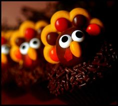 Two-Bite Brownie Turkeys