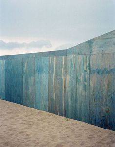 I love this little blue stained plywood wall. This is like one colour of the…