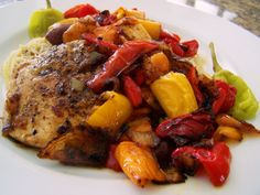 Zesty chicken and peppers