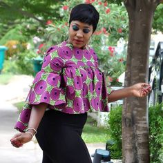 Super Stylish Ankara Tops for Gorgeous Ladies Latest African Fashion Dresses, African Dresses For Women, African Print Dresses, African Print Fashion, Africa Fashion, African Attire, African Tops For Women, African Blouses, African Shirts