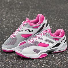e9fe87c7857 Fila Sentinel Lady White Gray ShockPink   Tennis Shoes - Tennis  Holabird  Sports