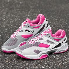 Fila Sentinel Lady White/Gray/ShockPink : Tennis Shoes - Tennis: Holabird Sports