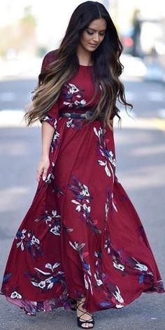 Di-Vi-No floral maxi dress, casual maxi dresses, modest maxi dress Pretty Outfits, Pretty Dresses, Beautiful Outfits, Floral Maxi Dress, Dress Skirt, Purple Dress, Modest Dresses, Summer Dresses, Maxi Dresses